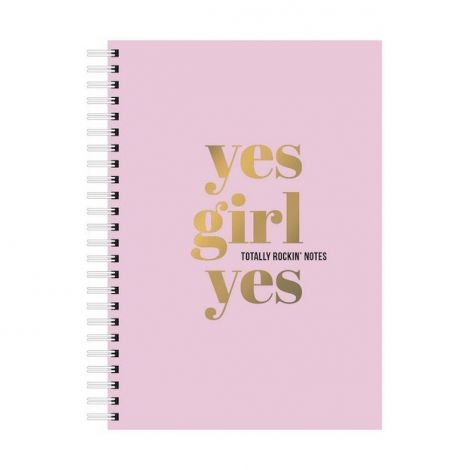 Notebook yes girl yes A5 roze