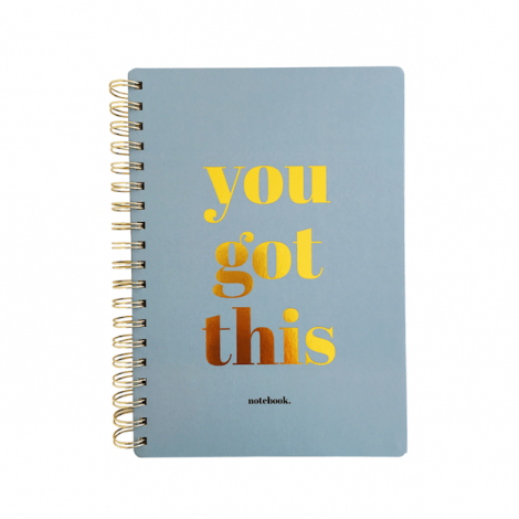 Notebook you got this blauw